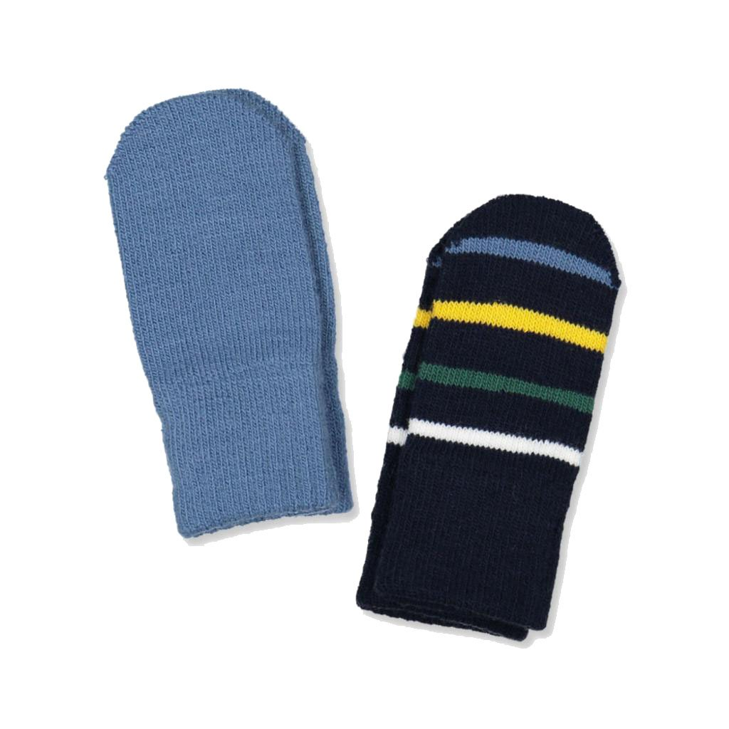 POLARN O PYRET 2-PACK SIGNATURE STRIPE THUMBLE MITTENS 0-6MOS