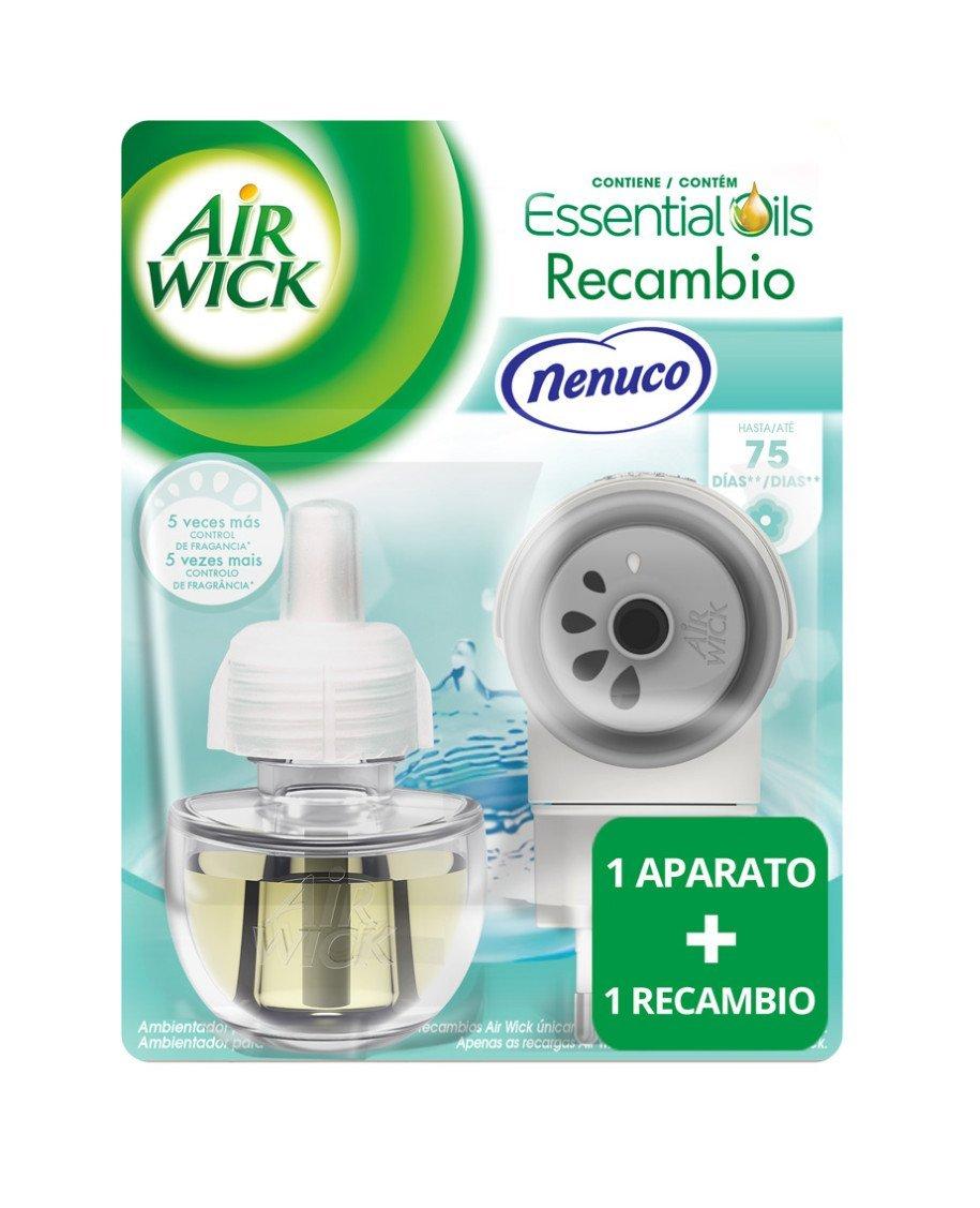 Air Wick Ambientador Eléctrico Completo Nenuco + Recambio Duplo Nenuco Air Wick Ambientador Eléctrico, 2 x 19 ml - Total: 38 ml: Amazon.es: Hogar