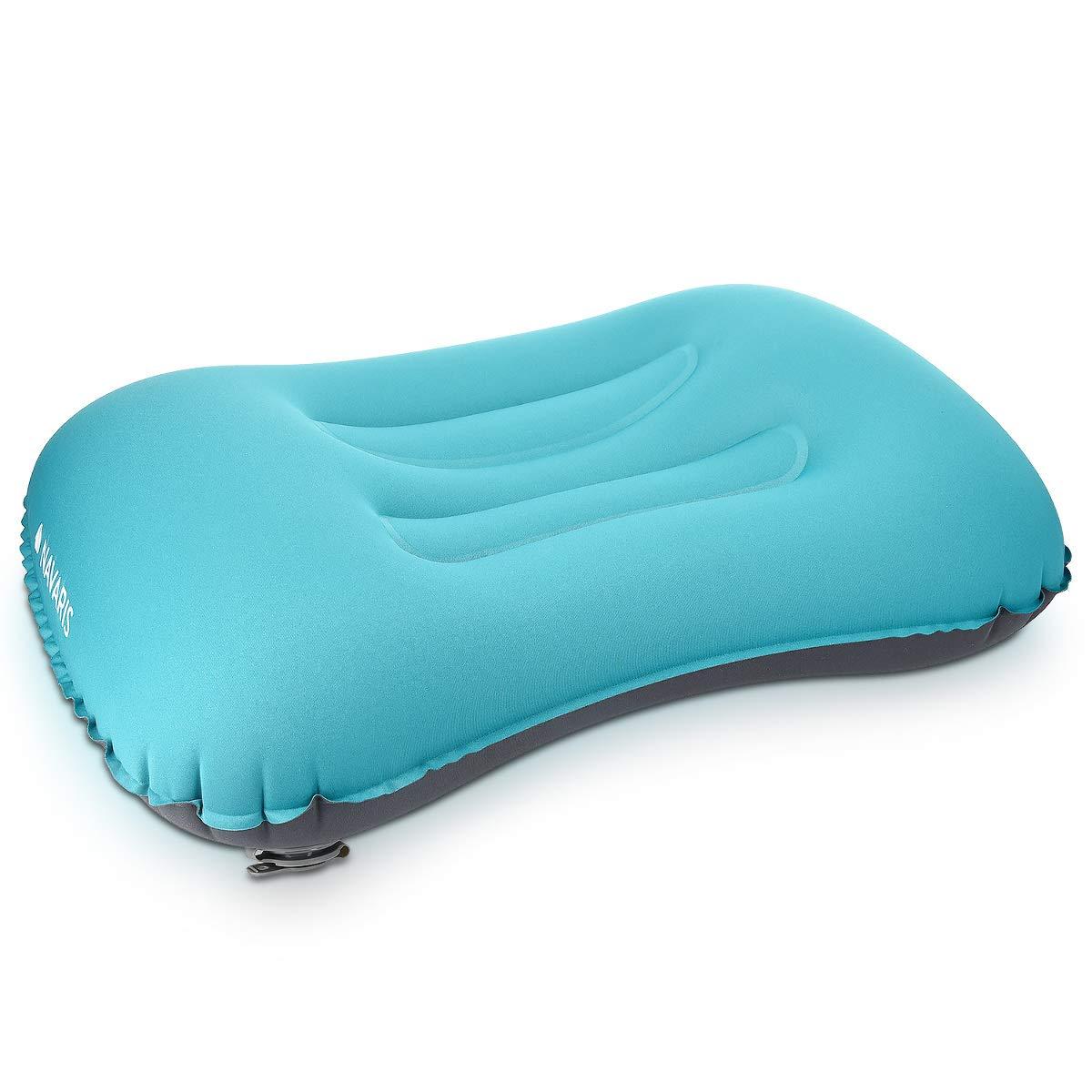 Oreiller de Voyage Gonflable Ultral/éger et Confortable Coussin Gonflable Compressible pour Camping Randonn/ée Plage Navaris Oreiller de Camping