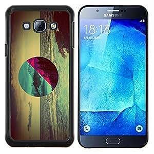 Geometría Ocean Forest- Metal de aluminio y de plástico duro Caja del teléfono - Negro - Samsung Galaxy A8 / SM-A800