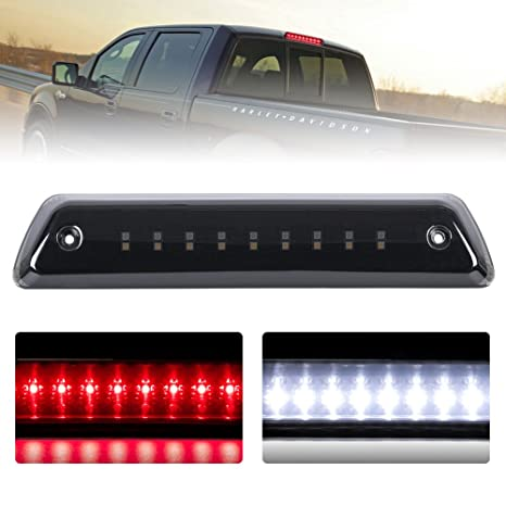 amazon com: third brake light/reverse light smoked for 2009-2014 ford f150  power saving waterproof, 2 years warranty: automotive