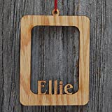 Personalized Wood Name Picture Frame Christmas Tree Ornament