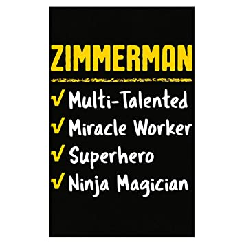 Amazon.com: Zimmerman Talented Superhero Ninja Nombre Pride ...