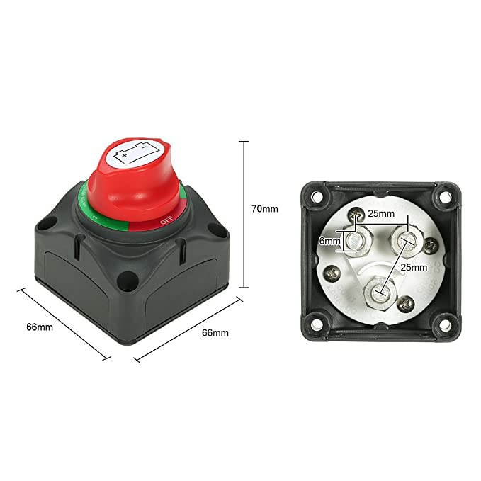 Use With Twin Batteries 12v 24v Marine Boat Battery Isolator Cut Off 4 Position