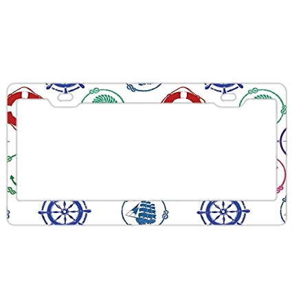 Shabby Chic Country Romantic Frame.Amazon Com Gndishangd Top Craft Case Black Nautical Pattern