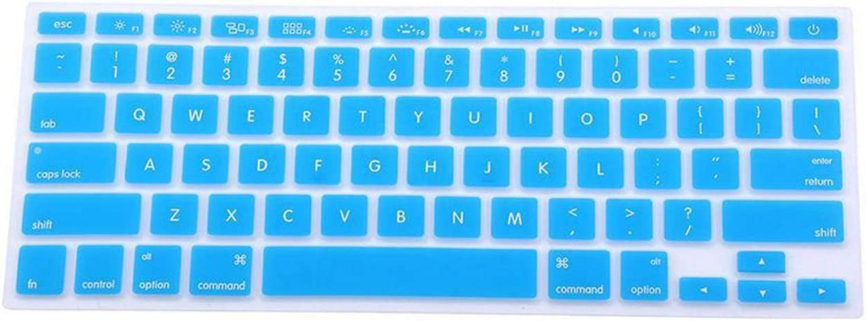 Silicone Keyboard Cover Protector Skin for Pro 13 15 17 Pro Air 13 Soft Keyboard Stickers 9 Colors-Purple