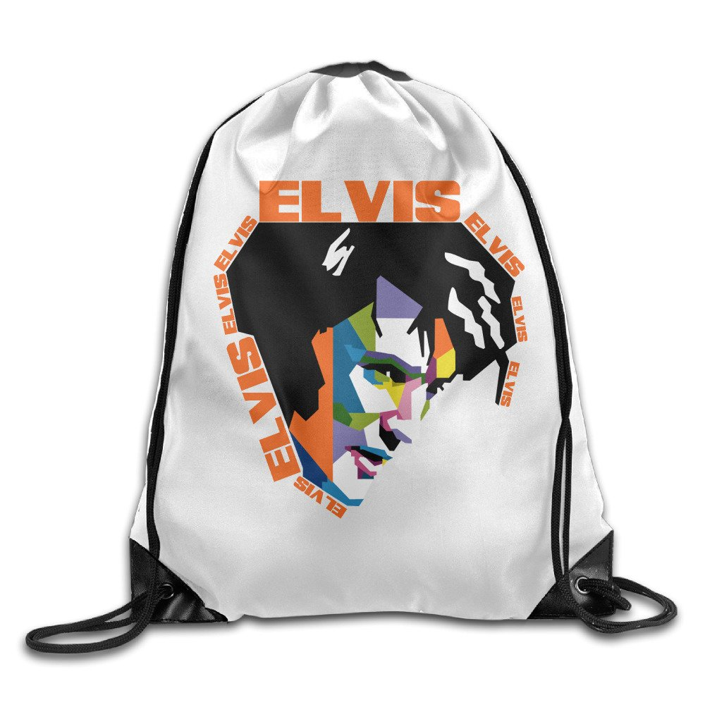 Cool Hiking Daypack Elvis Presley Drawstring Backpack Breathability Backpack