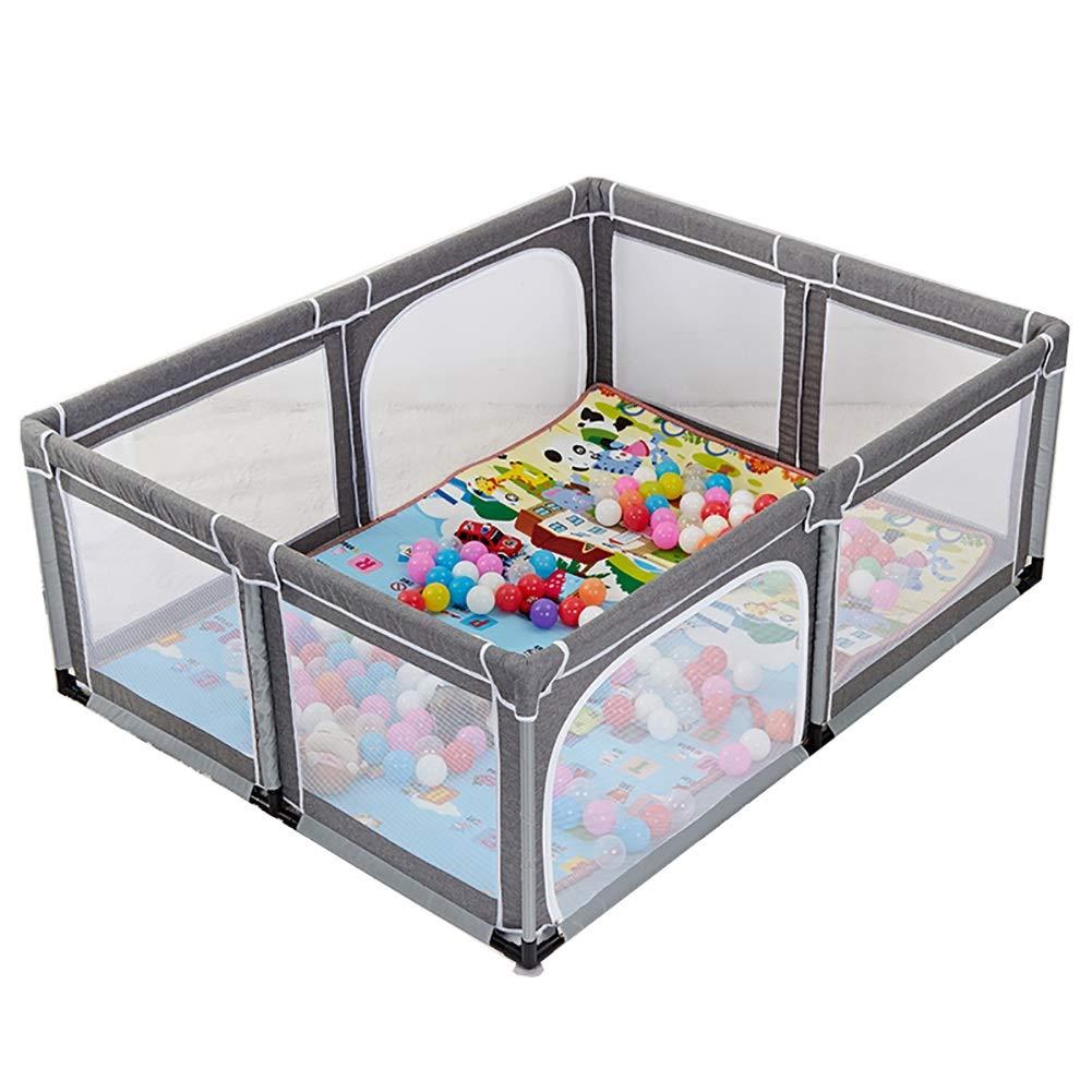 ベビーサークル, 赤ちゃんの遊び場のボールの安全な遊び場遊び場の赤ちゃんの遊び場携帯用の遊び場屋内の子供のゲームのフェンス (色 : Gray)  Gray B07JDV6RYL