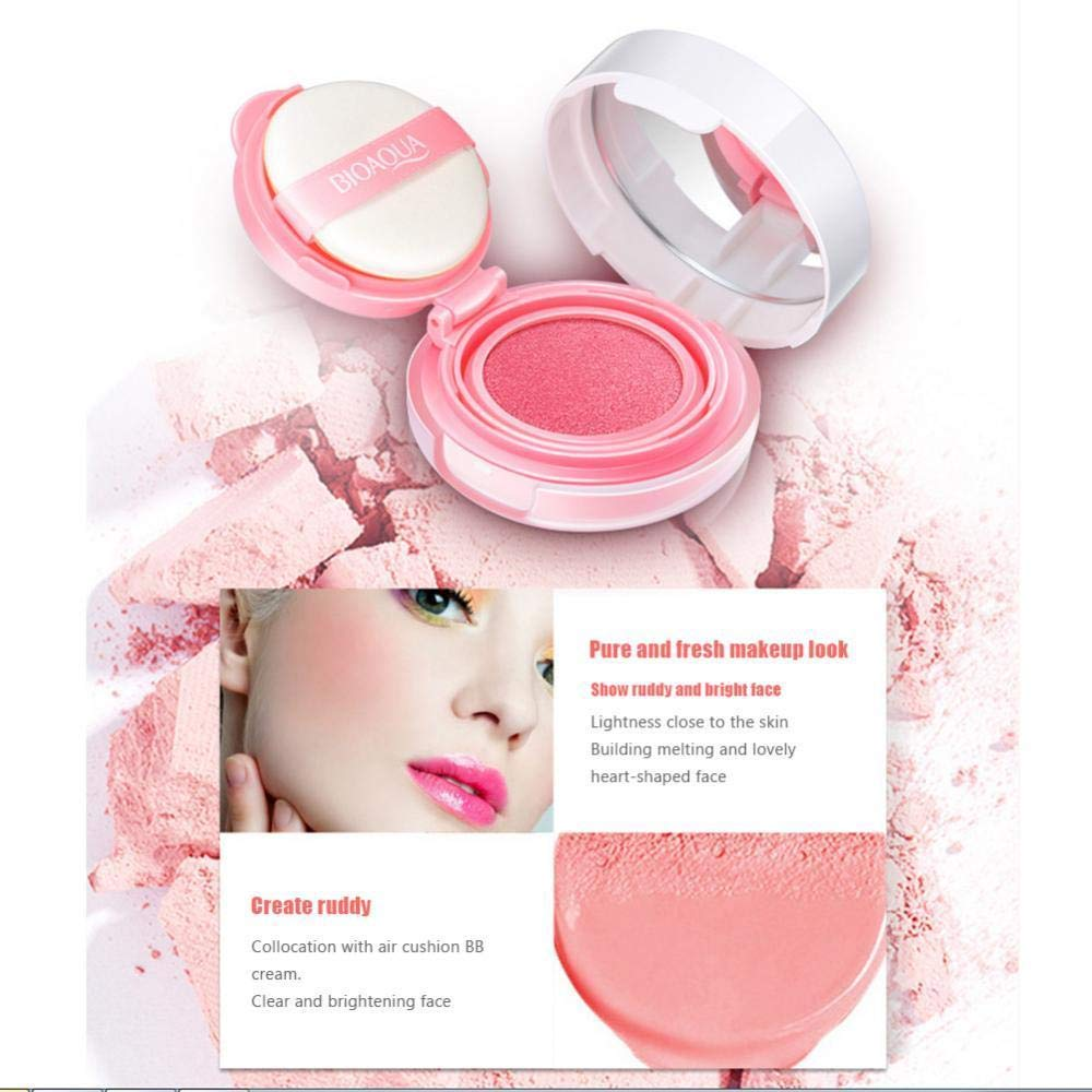 Amazon Com Rulong Bioaqua Bb Cream Air Cushion Blusher Blush Rouge