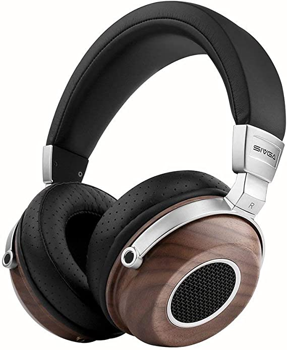 Amazon.com: SIVGA SV004 Hi-Fi Wood Over-Ear Stereo Open Back Wired Headphones, Built-in Mic, Soft Earmuffs with Carrying Case (Walnut): Home Audio & Theater