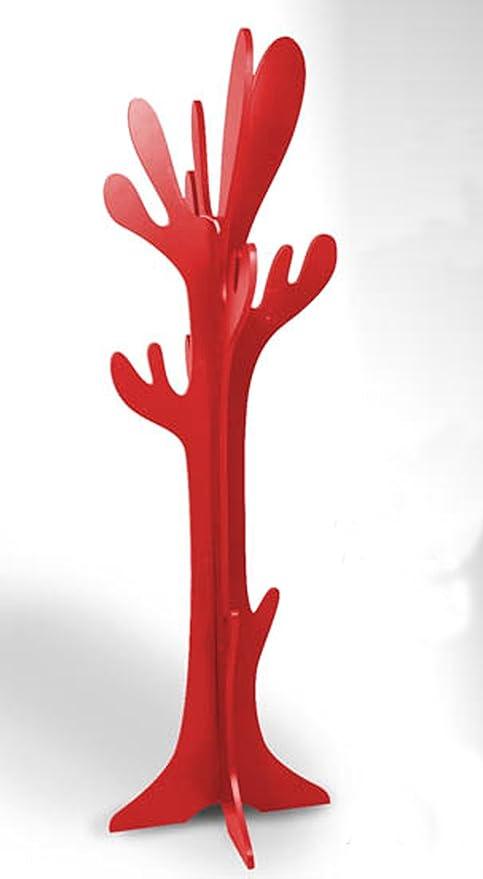 Casa Perchero de Madera Modelo Cactus o árbol - Rojo: Amazon ...