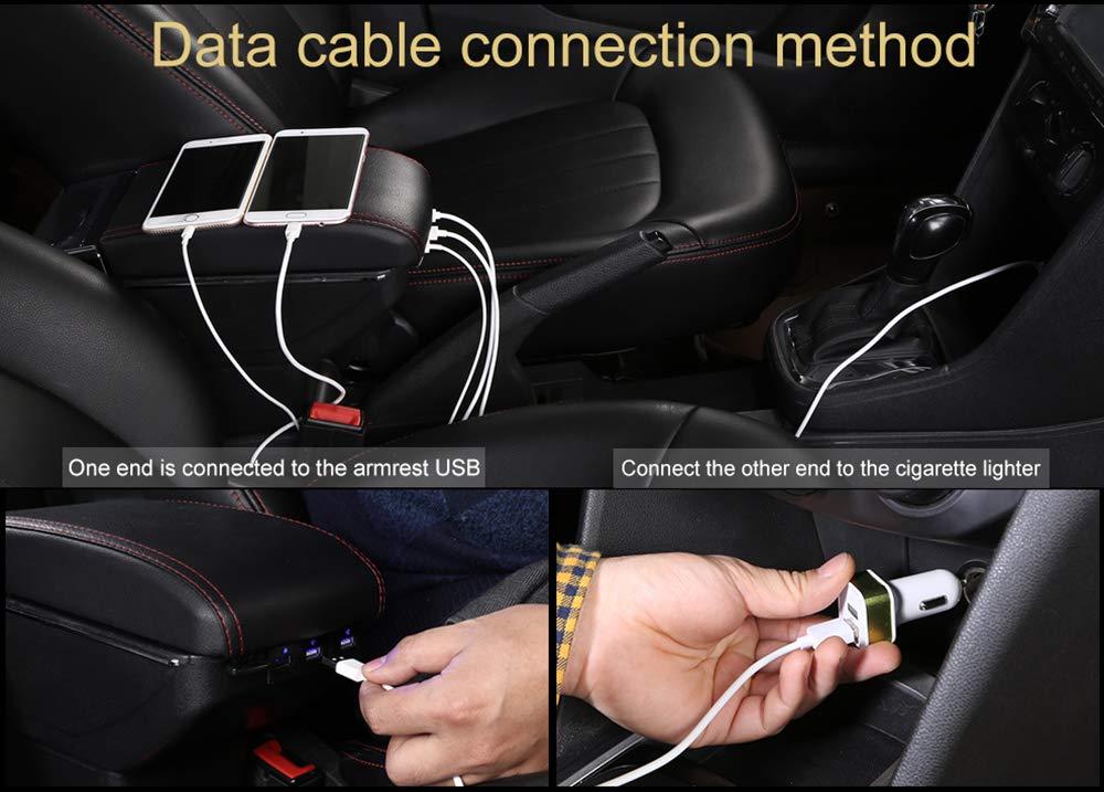 Accoudoir de type levage avec port USB pour console centrale 208 2012-2020