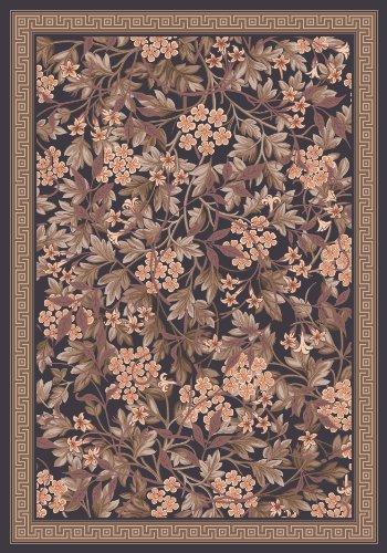 Milliken Pastiche Delphi Floral Ebony Rug Oval 3'10