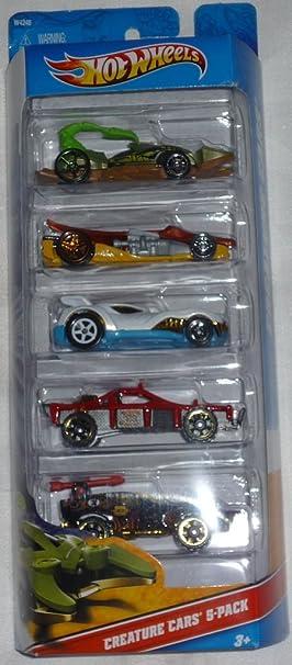 Hot Wheels Creature Cars 5 Pack (W4248) by: Amazon.es: Juguetes y juegos