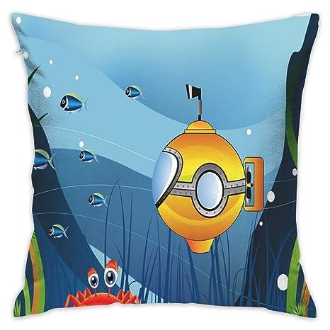 sdkjfg - Funda de cojín Decorativa, diseño de Submarino con ...