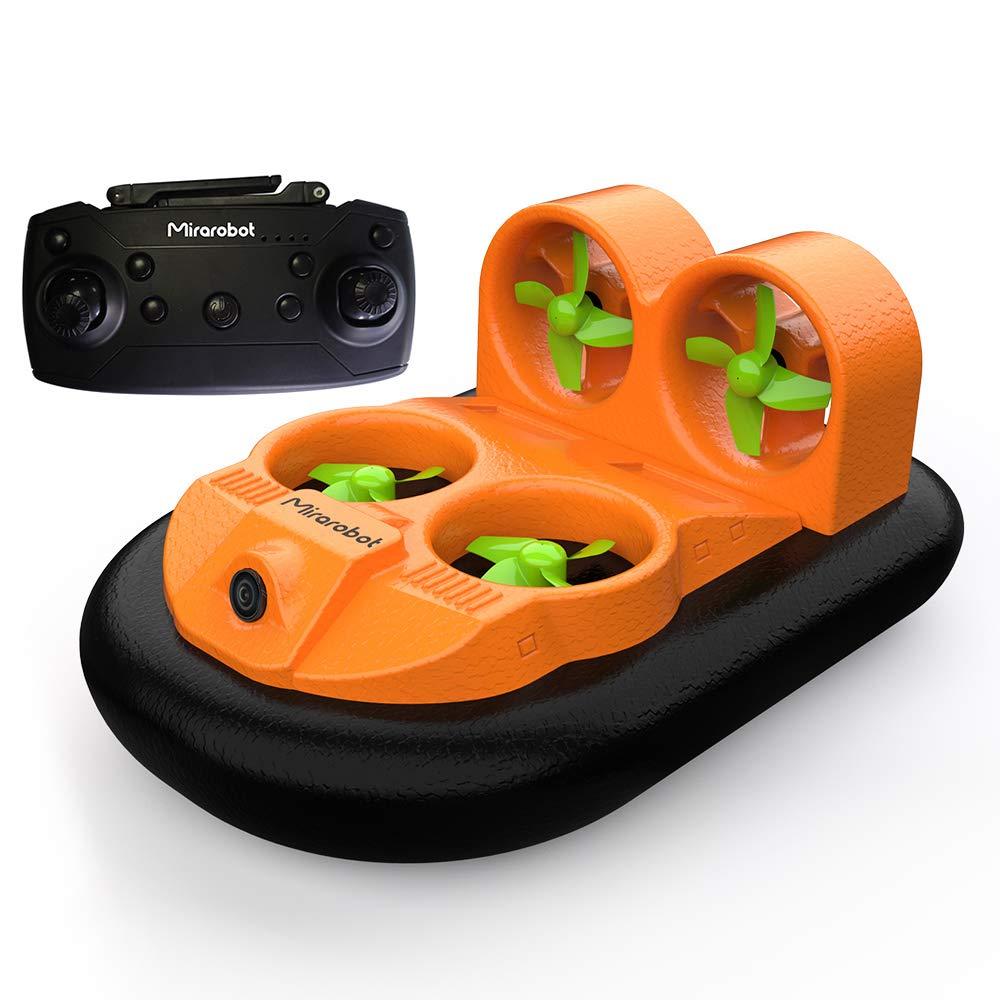 Goolsky 水陸両用 RCボート 車 ホバークラフト 600TVL 5.8G FPV カメラ付 EPP 高速 地上 Mirarobot GV160 B07JL2S4J4 オレンジ
