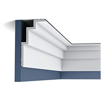 Cornisa Orac Decor C392 MODERN STEPS Moldura para decoración de pared y techo moderno blanco 2m: Amazon.es: Bricolaje y herramientas