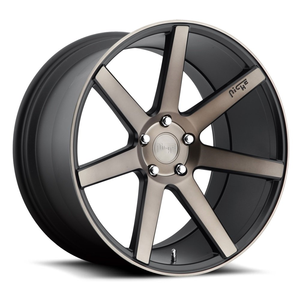 Niche Verona 22 Black Flake Wheel / Rim 5x112 with a 32mm Offset and a 66.6 Hub Bore. Partnumber M150229043+32