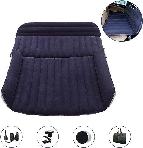 QDH SUV Air Mattress – Car Bed Back Seat Mattress – Portable Car Mattress for Vehicle Cushion Air Bed Inflatable Mattress Car Bed with Air-Pump – Travel Mattress Camping Blow Up Mattress for SUV
