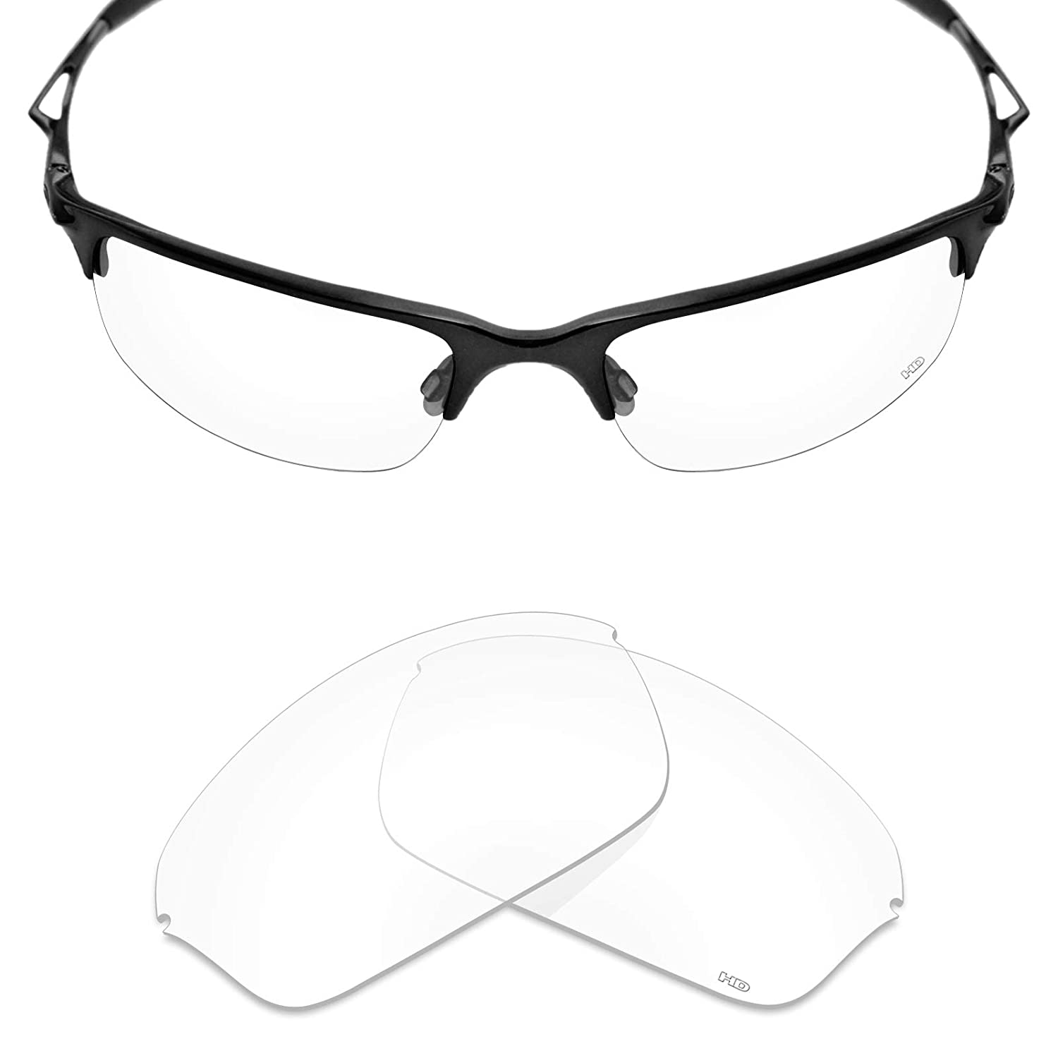 35d4f9470e Amazon.com  Mryok+ Polarized Replacement Lenses for Oakley Half Wire 2.0 -  HD Clear  Clothing