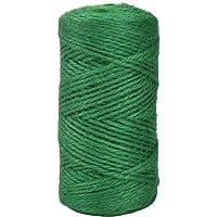 HQdeal Tuin Jute touw, 328 voeten/100m natuurlijke jute string, 3ply 2mm dikke sterke jute touw, groen Hessische touw…
