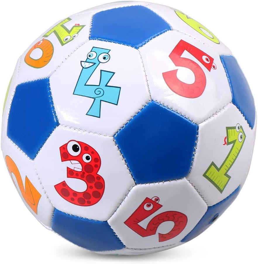 Lixada Gr/ö/ße 2 Kinder Fu/ßball aufblasbare Fu/ßballtraining Ball Geschenk f/ür Kinder Studenten