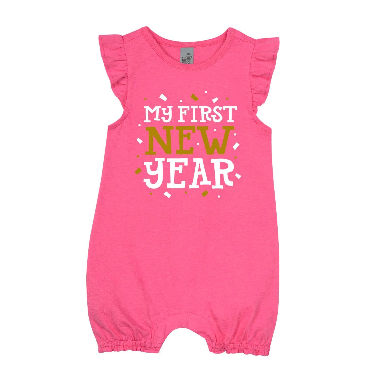 First New Year InfantFlutter Romper My First New Year