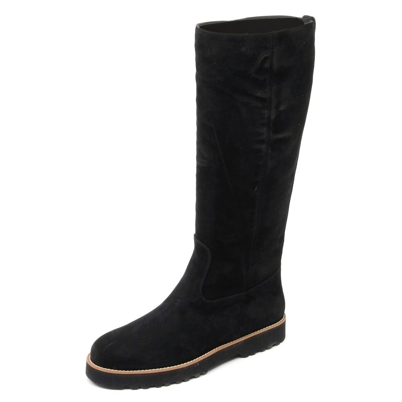 B8518 stivale alto donna HOGAN H259 ROUTE scarpa nero boot shoe woman Nero