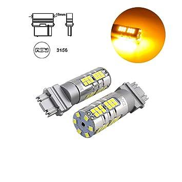 ZXREEK 3156 T25 - Bombillas LED superbrillantes para intermitentes delanteros y traseros de coche (1500