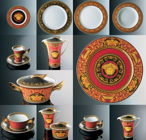Amazon.com   Versace by Rosenthal Medusa Red Service Plate Versace By Rosenthal Plate Charger \u0026 Service Plates & Amazon.com   Versace by Rosenthal Medusa Red Service Plate: Versace ...