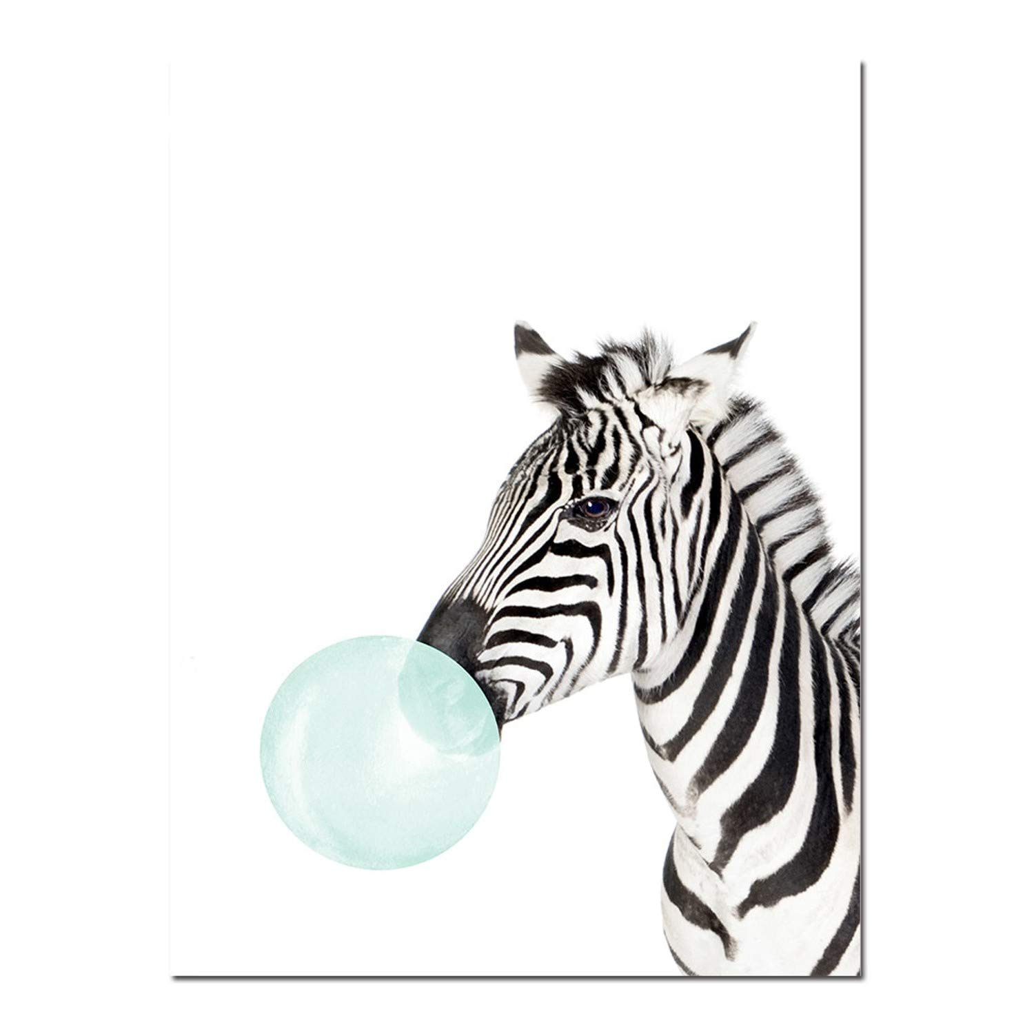 Amazon.com: Chitop Baby Animal Zebra Girafe Canvas Poster - Nursery Wall Art Print Painting Nordic Picture Children Bedroom Decoration (7) (30x40cm): ...