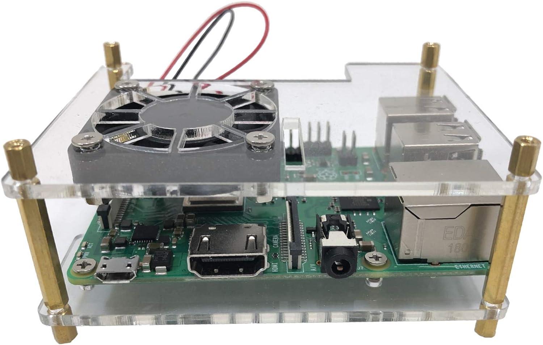 Micro Connectors Aluminum Raspberry Pi 3 Model B B Case with Heatsinks RAS-PCS03-BK Black