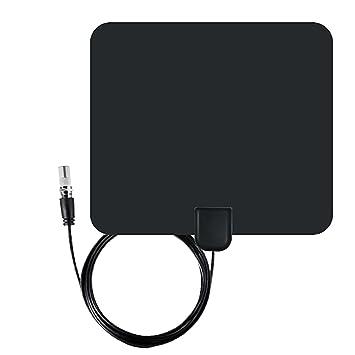 Gosear 35 millas gama IEC macho ultra fino interior TV Digital HDTV antena con señal alta