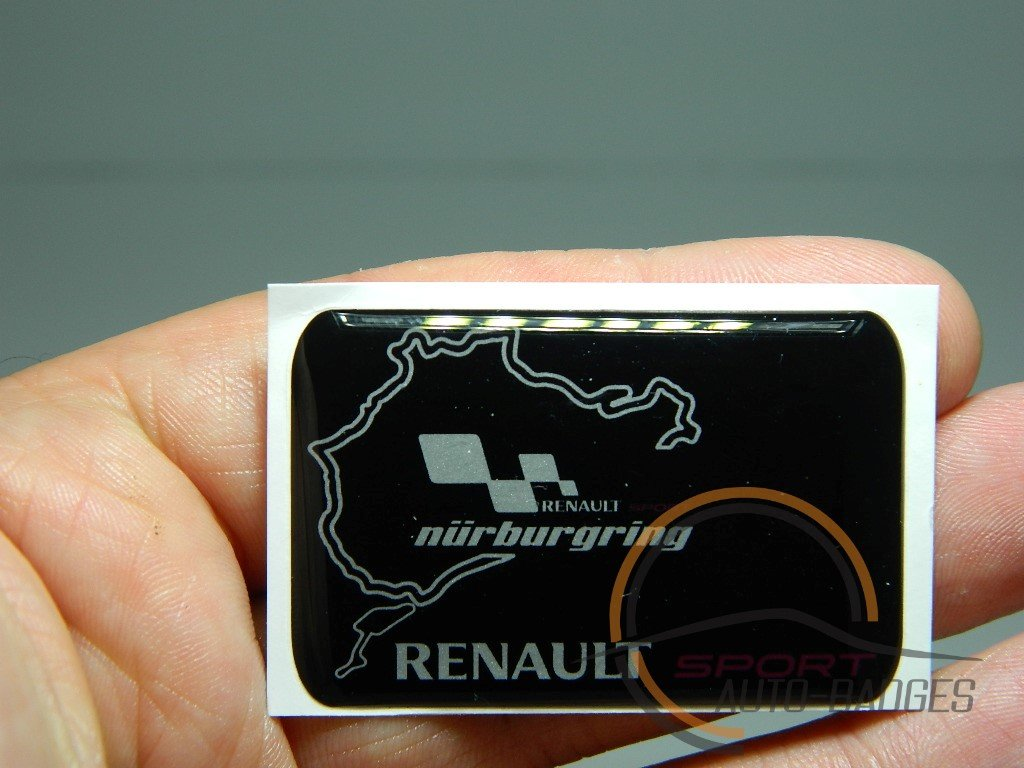 renault sports badge emblem nurburgring theme badge clio megane