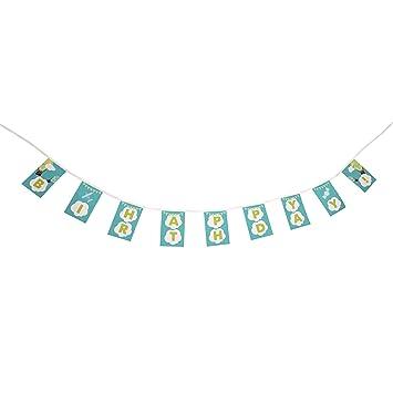 Amazon.com: Banderines de Fiesta con temática de globo de 10 ...