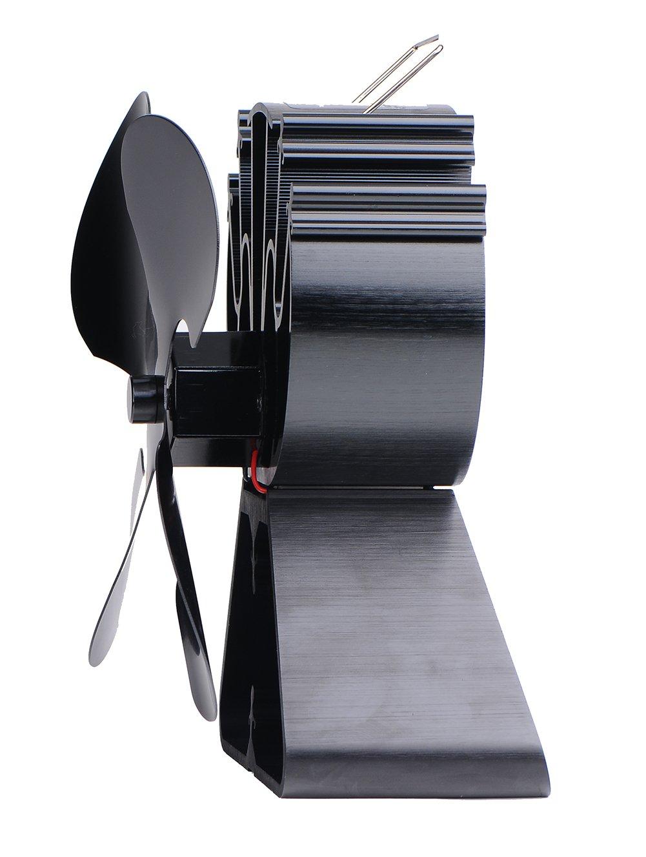 Ventilador para estufa equipmart Limited para madera/leña - respetuoso con el medio ambiente negro: Amazon.es: Bricolaje y herramientas