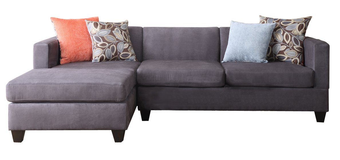 leather accent pillows on sectional amazoncom 2 pcs sectional sofa by poundex kitchen dining