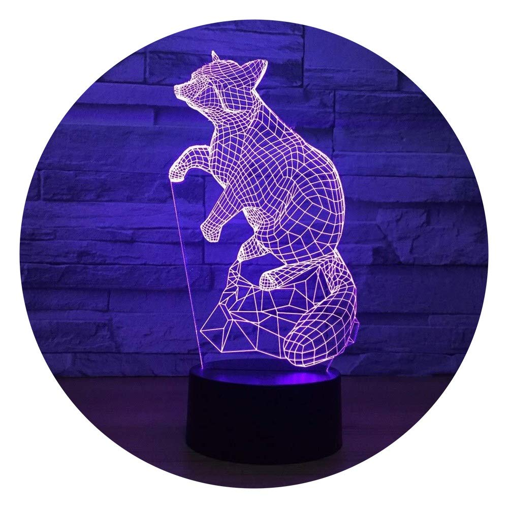 JINXUXIONGDI Visual Stereo Vision 3D Mouse Night Light Creative Touch Control Colorful LED Lights USB Battery 3D Lamps Children's Room Lamp Home Decoration Lamp Children's Decoration