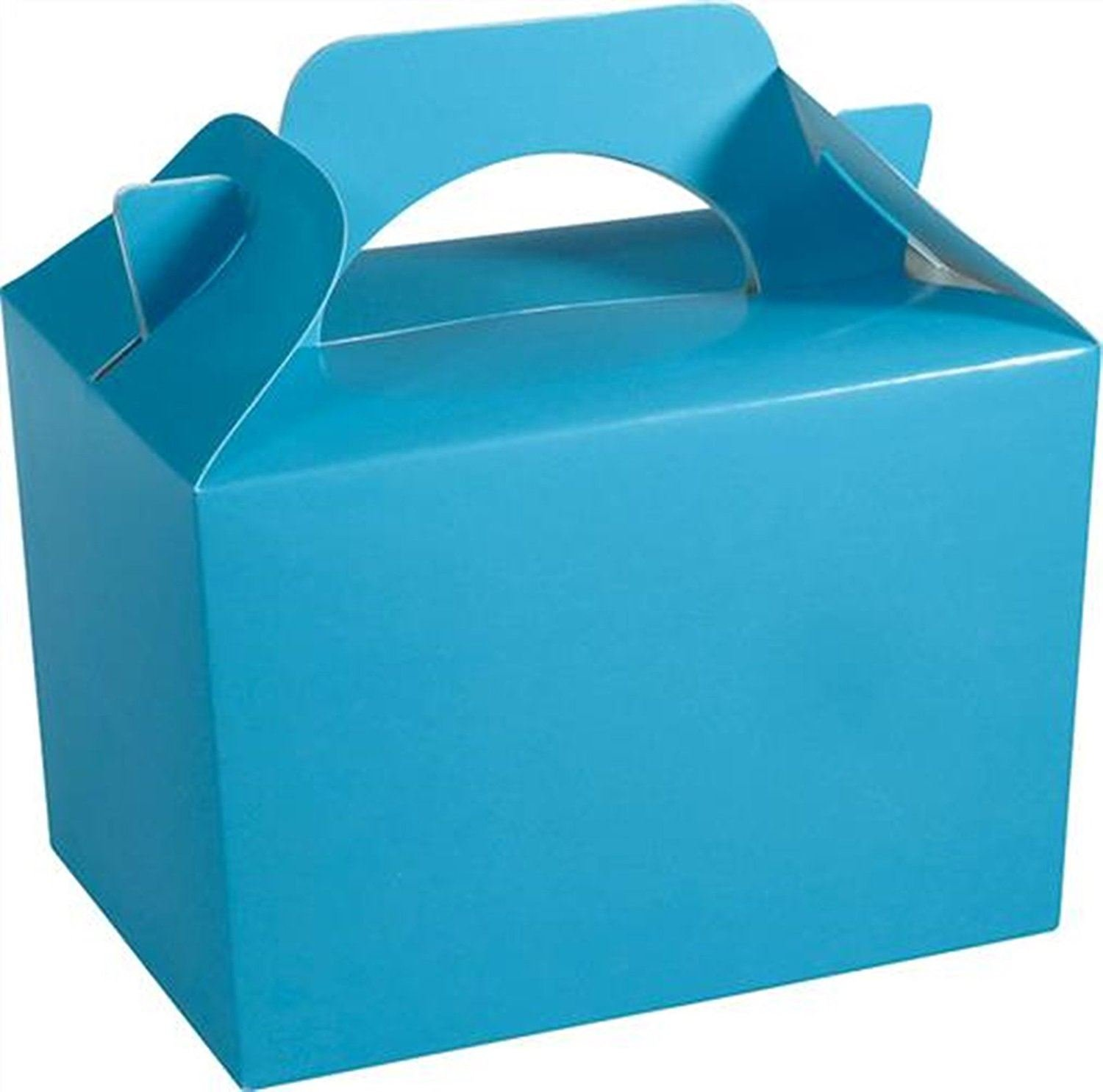 10 x BABY BLUE Kid Childrens Plain Activity Food Loot Favour Birthday Party Bag Gift Box Wedding Toy Christmas Concept4u