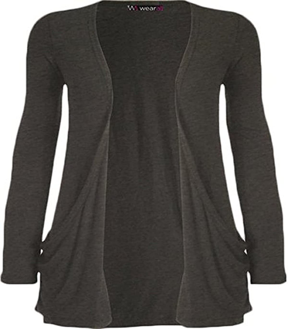 Amazon.com: WearAll Women's Long Sleeve Pocket Cardigan: Clothing