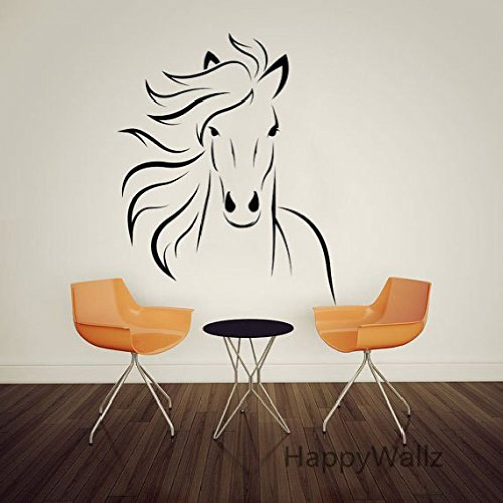 Amazoncom large animal run horse mustang wall decal for Horse wall decals