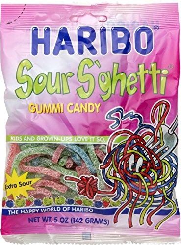 Haribo Sour - Haribo Sour S'ghetti Gummi Candy, 5 oz (Pack of 3)