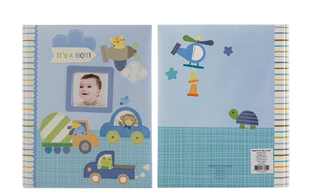C.R. Gibson Stepping Stones Baby Memory Book For First Five Years Boys Or Girls CR Gibson