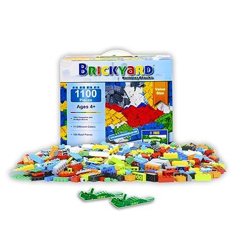 Amazoncom Brickyard Building Blocks Building Bricks 1100 Pieces