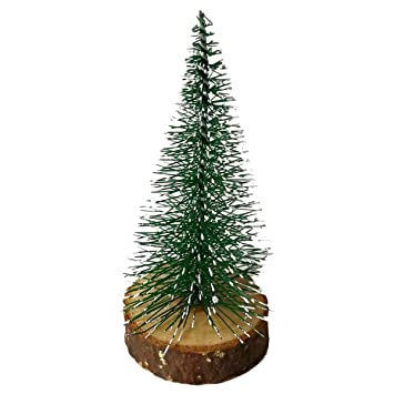 a2fda46b913 Buy BESTOYARD Tabletop Mini Christmas Tree with Wooden Base Decoration  Ornaments Extra Small Size Online at Low Prices in India - Amazon.in