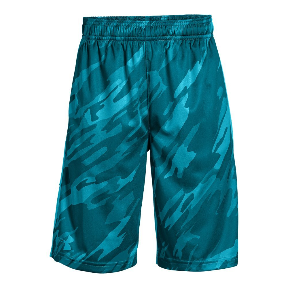 Under Armour Boys' Instinct Printed Shorts,  Deceit (439)/Deceit  Youth Large by Under Armour