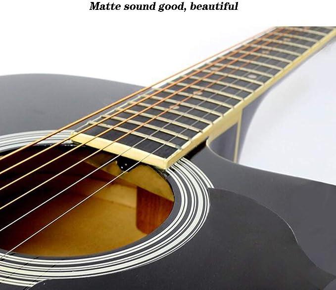 BAIYING-Guitarra Acústica Principiante 41 Pulgadas Guitarra ...