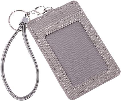 Hibate Porte-cartes en cuir pour bus