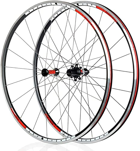 LIDAUTO Rueda de Bicicleta de Carretera 700c buje de Rueda Shimano y Sram 8/9/10 / 11S,Red: Amazon.es: Deportes y aire libre