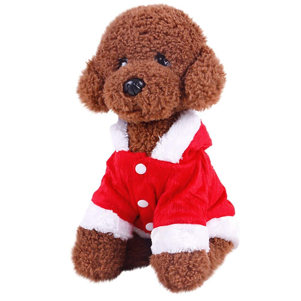 abcnature Christmas Pet Dog Cat Clothes Angel Cute Sweatshirts Pet Apparel Fur Coats Outdoor Winter Warm Soft